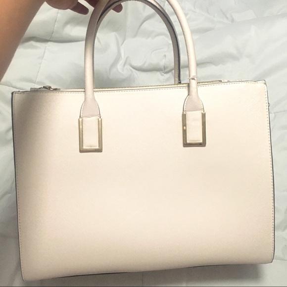 2e63be6ec087 NEW cream structured tote bag